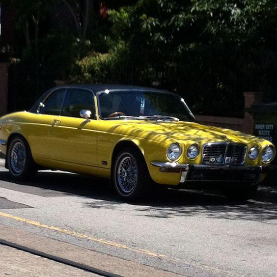 xj6 yellow dads car